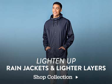 Lighten Up. Rain Jackets and Light Layers. Shop Collection
