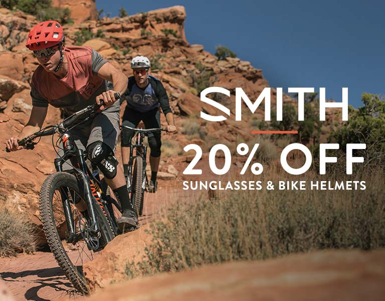 Up to 20% Off Smith Bike Helmets & Sunglasses