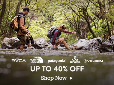 RVCA. The North Face. Patagonia. Prana. Volcom. Up to 40 Percent Off.