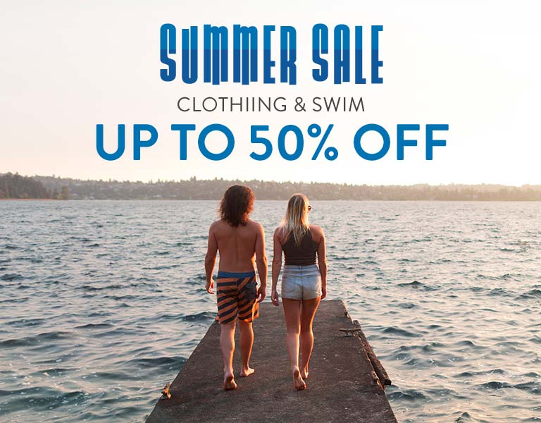Summer Sale. Clothing & Swim. Up to 50% Off