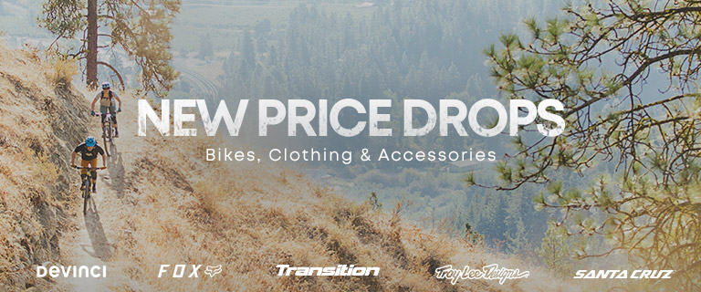 New Price Drops. Bikes, Clothing, and Accessories.