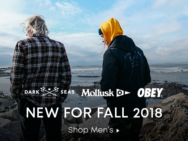 Dark Seas Mollusk Obey. New for Fall 2018. Shop Mens