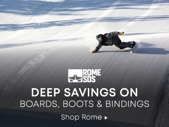 Deep Savings On Boards, Boots, and Bindings. Shop Rome.