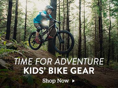 Time for Adventure. Kids Bike Gear. Shop Now