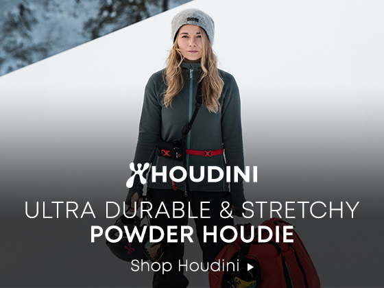 Houdini. Ultra Durable and Stretchy Powder Houdie. Shop Houdini