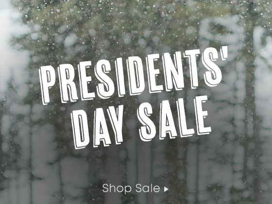 Presidents' Day Sale. Shop Sale.