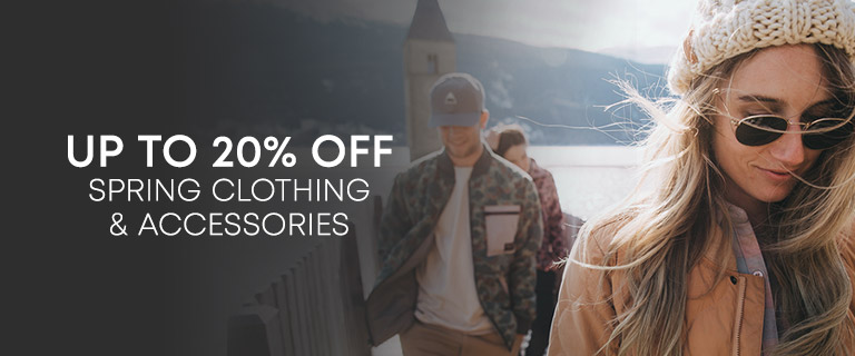 Up to 20% Off. Spring Clothing & Accessories