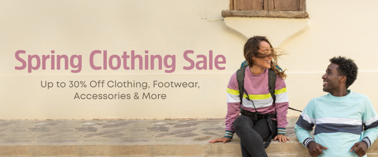 Spring Clothing Sale. Up to 30% Off Clothing, Footwear, Accessories & More.