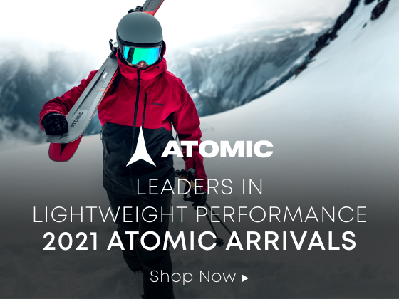 Atomic. Leaders in lightweight performance. 2021 atomic arrivals. shop now.