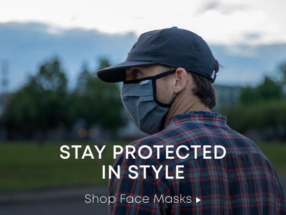 a picture of a man in a face mask. stay protected in style. shop face masks.