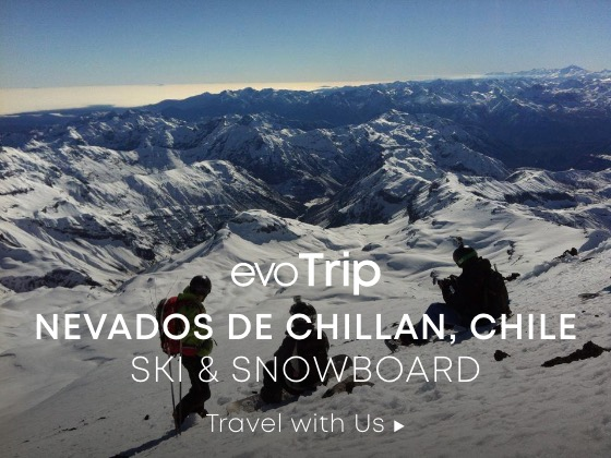 evotrip. nevados de chillan, chile. skis and snowboard travel with us.