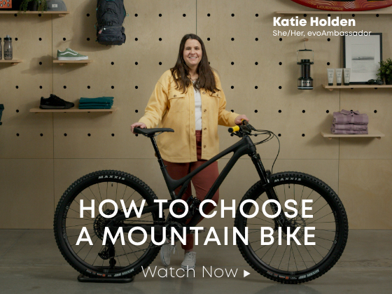 how to Choose a mountain bike, featuring katie holden. watch now.