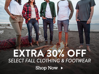 Extra 30 Percent Off Select Fall Clothing and Footwear. Shop Now.