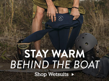 Stay Warm Behind the Boat. Shop Wetsuits.