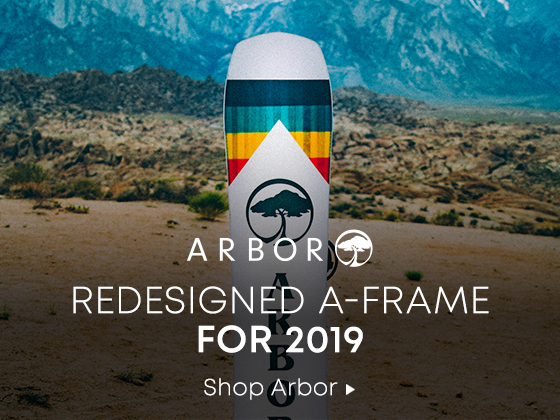Arbor. Redesigned A-Frame for 2019. Shop Arbor Snowboards.