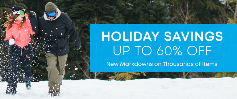 Holiday Savings Up to 60 Percent Off