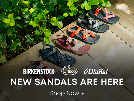 945ca27ccdc Birkenstock. Chaco. Olukai. New Sandals Are Here. Shop Now.