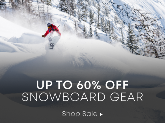 Up to 60% off Snowboard Gear