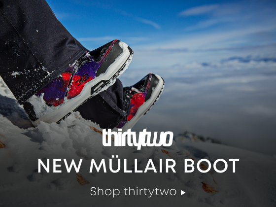 Elevated State of Snowboarding. thirtytwo. New Mullair Boot. Shop thirtytwo.