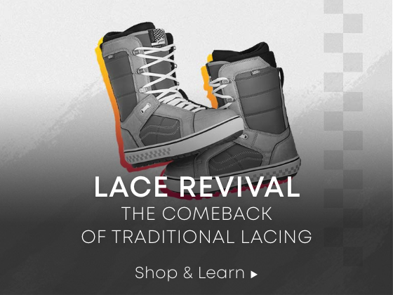 Lace Revival. The comeback of traditional lacing. Shop & Learn.