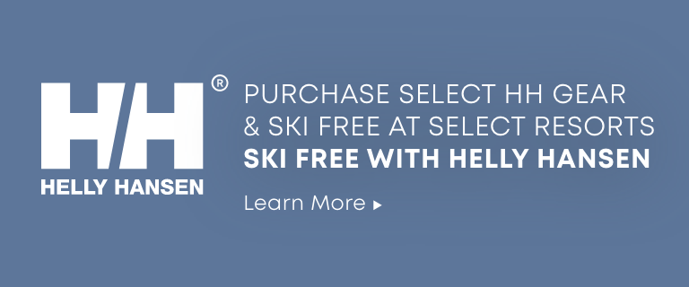 Helly Hansen. Purchase Select HH Gear and Ski Free at Select Resorts. Ski Free with Helly Hansen. Learn More.