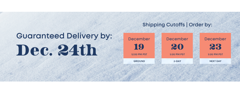 Guaranteed Delivery by Dec. 24th. See Details.