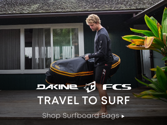 Dakine. Creatures of Leisure. FCS. Travel to Surf. Shop Now.