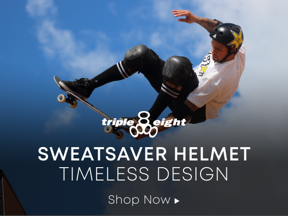 Triple 8 Logo. Sweatsaver Helmet Timeless Design. Shop Now.