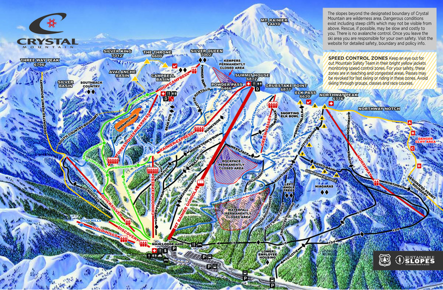 Crystal Mountain Skiing Snowboarding Resort Guide Evo