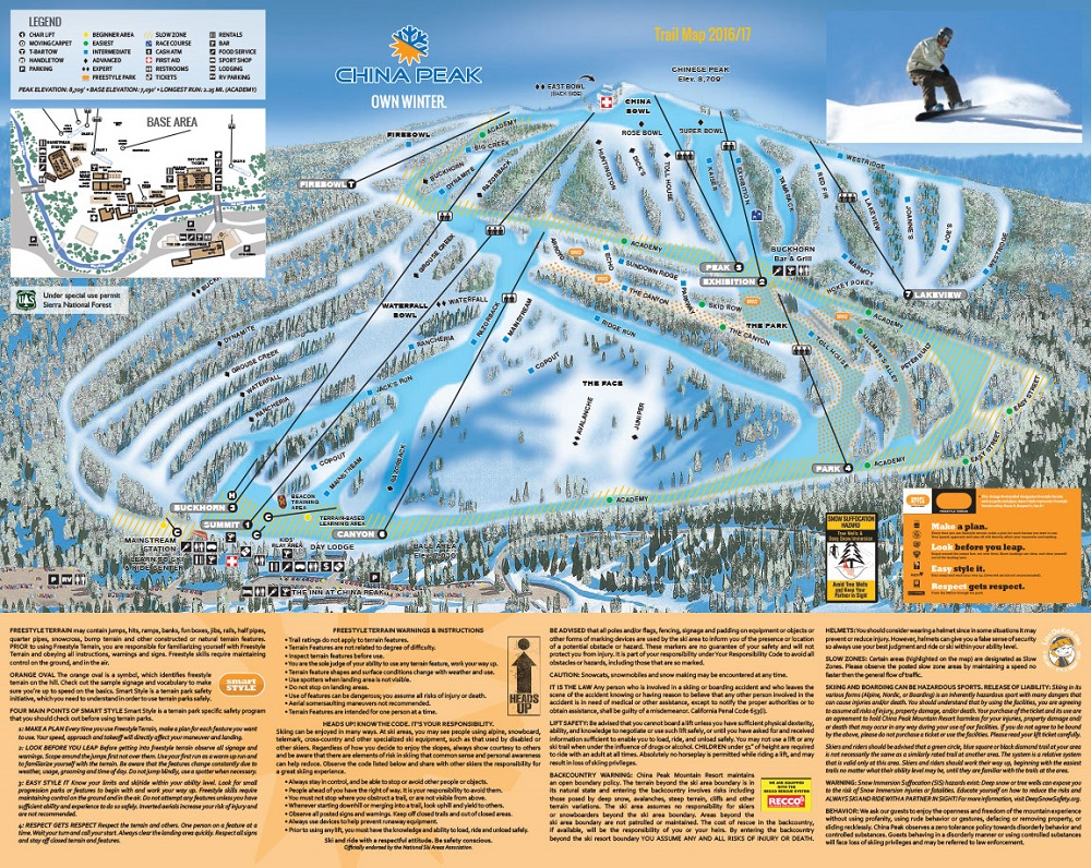 China Peak Ski and Snowboard Area