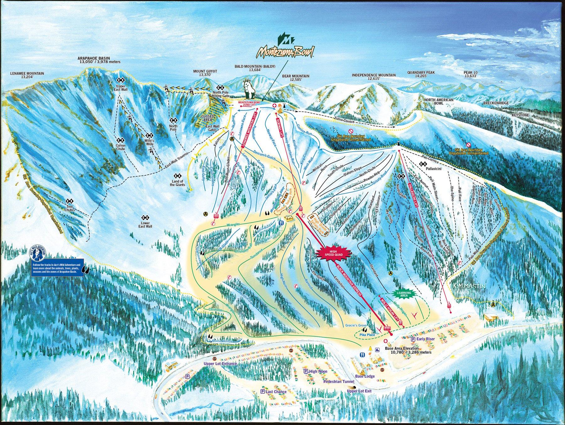 A Basin Map Arapahoe Basin Skiing & Snowboarding Resort Guide | evo A Basin Map