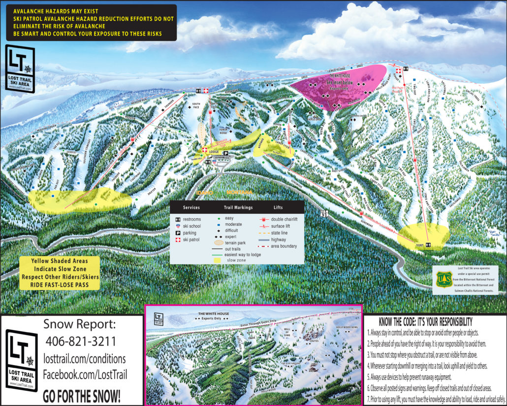 Lost Trail ski and snowboard area