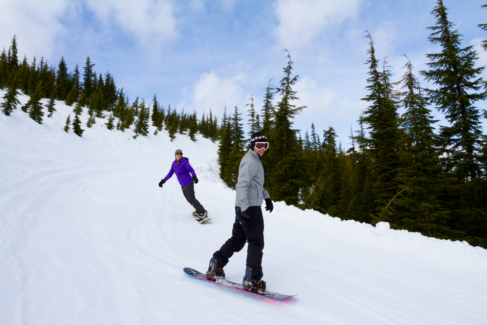 Snowboarding at Willamette Pass
