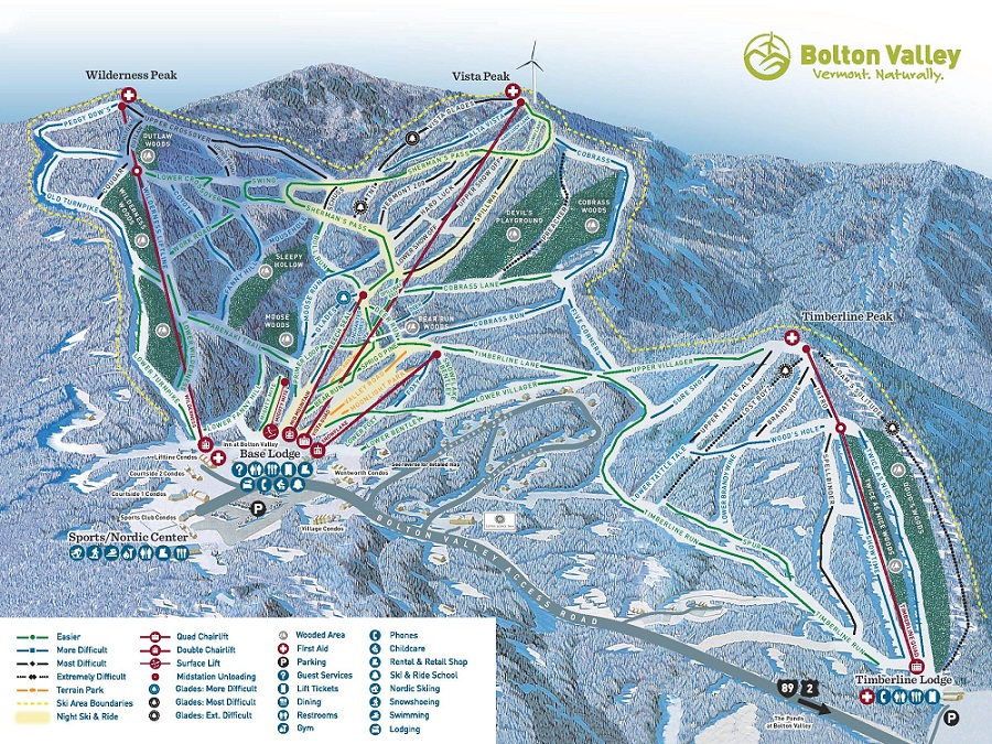 Bolton Valley ski area