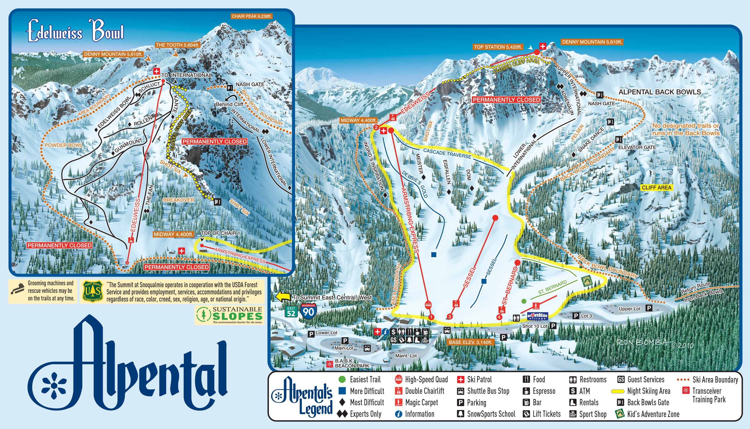 Alpental Trail Map