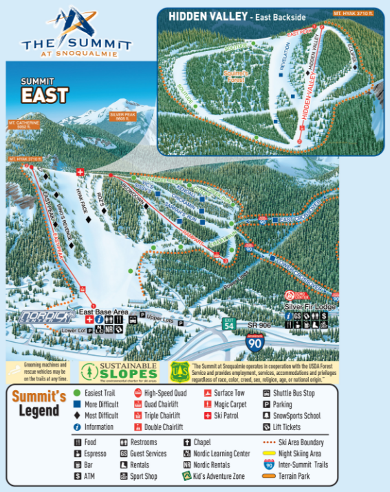 Summit East Trail Map