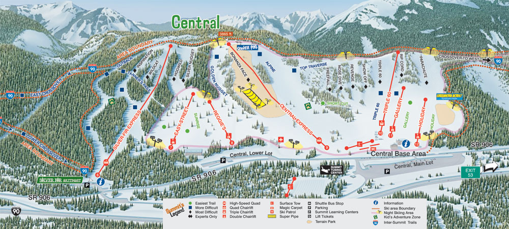 Summit Central Trail Map