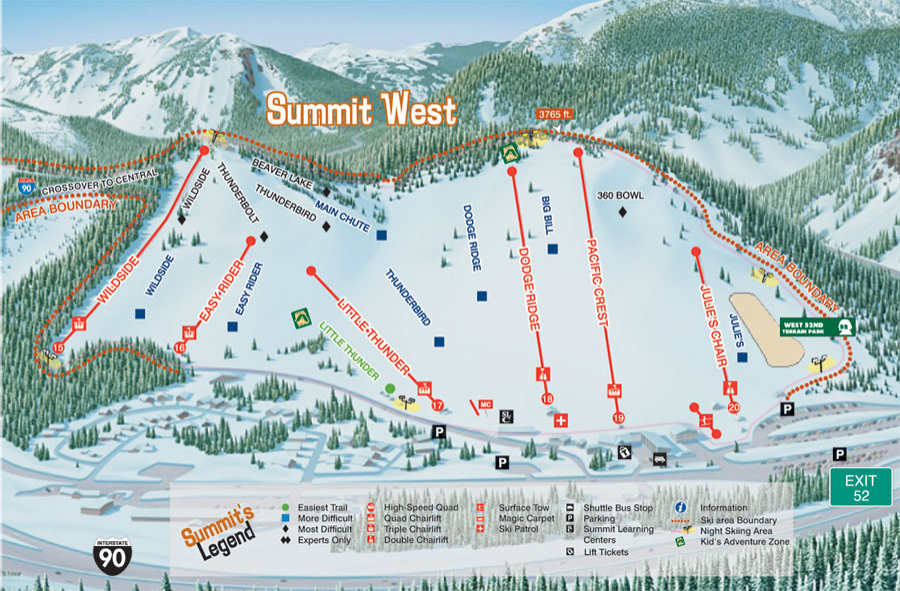 Summit West Trail Map