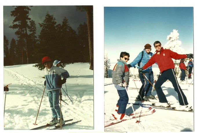 1987, First Ski Outing with Uncle Jack (red jacket)